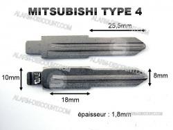 AMORCE CLE MITSUBISHI INSERT CLE MITSUBISHI CLE TELECOMMANDE MITSUBISHI : ALARM-DISCOUNT.COM