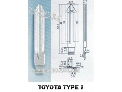 AMORCE CLE TOYOTA INSERT CLE TOYOTA CLE TELECOMMANDE TOYOTA : ALARM-DISCOUNT.COM