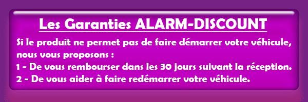 Garanties des système anti démarrage d'alarm-discount