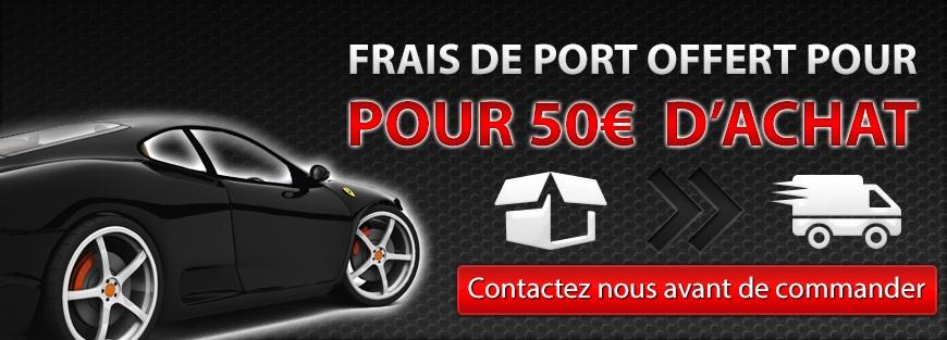 Contactez nous pour avoir les frais de port offert à partir de 50€ avant de faire votre commande.
