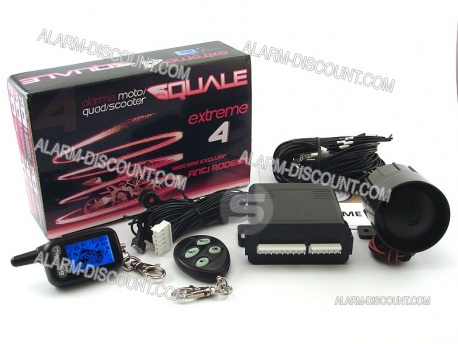 ALARME MOTO ALARME SCOOTER ALARME QUAD EXTREME 4 ANTI SOULEVEMENT CHOC CONTACT 2 TELECOMMANDES LCD : ALARM-DISCOUNT.COM