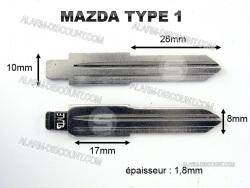 AMORCE CLE MAZDA INSERT CLE MAZDA CLE TELECOMMANDE MAZDA : ALARM-DISCOUNT.COM
