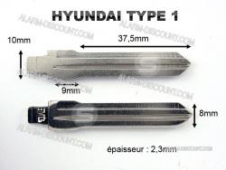 AMORCE CLE HYUNDAI INSERT CLE HYUNDAI CLE TELECOMMANDE HYUNDAI : ALARM-DISCOUNT.COM