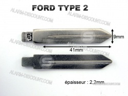 AMORCE CLE FORD INSERT CLE FORD CLE TELECOMMANDE FORD : ALARM-DISCOUNT.COM