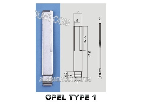 AMORCE CLE OPEL INSERT CLE OPEL CLE TELECOMMANDE OPEL : ALARM-DISCOUNT.COM