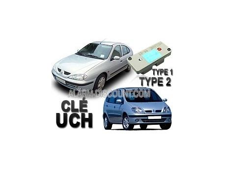 Clé UCH d'anti démarrage pour Renault Megane / Scenic phase 2 de 1999 à 2003