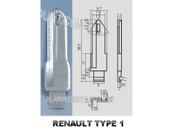 AMORCE CLE RENAULT INSERT CLE RENAULT CLE TELECOMMANDE RENAULT : ALARM-DISCOUNT.COM
