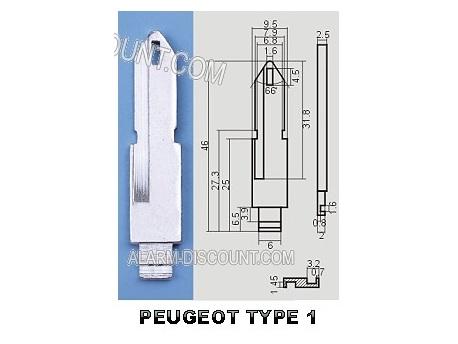 AMORCE CLE PEUGEOT INSERT CLE PEUGEOT CLE TELECOMMANDE PEUGEOT : ALARM-DISCOUNT.COM