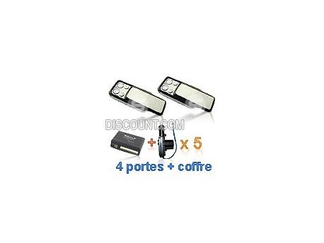 Kit centralisation universelle Dacia CLAPET + 5 moteurs