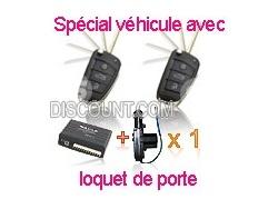 Kit centralisation universelle Peugeot CLE + 1 moteur