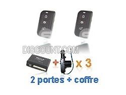 Kit centralisation universelle Peugeot SLIM + 3 moteurs