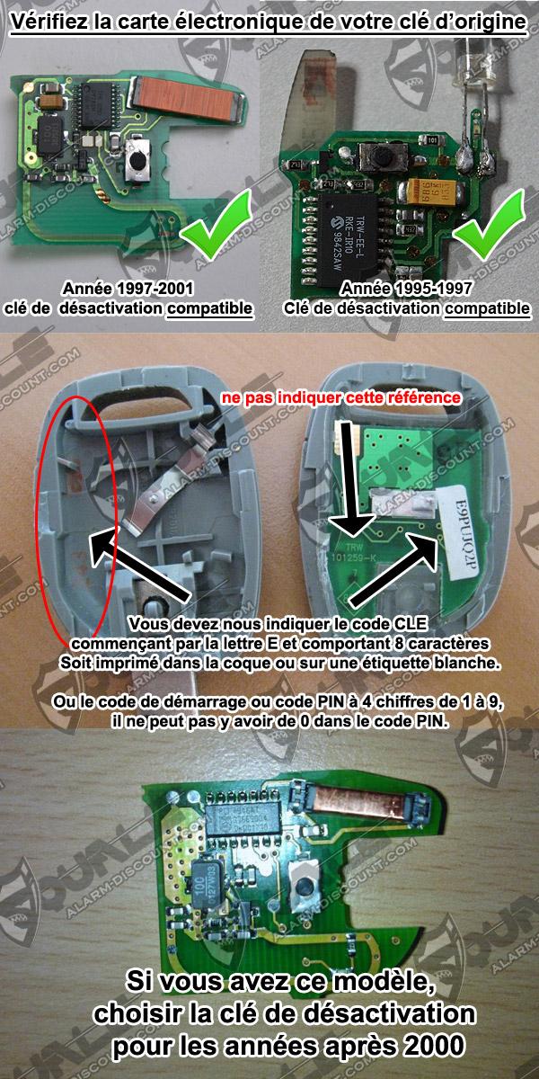 desactiver anti demarrage renault kangoo 1996 2002 solution chez alarm. Black Bedroom Furniture Sets. Home Design Ideas